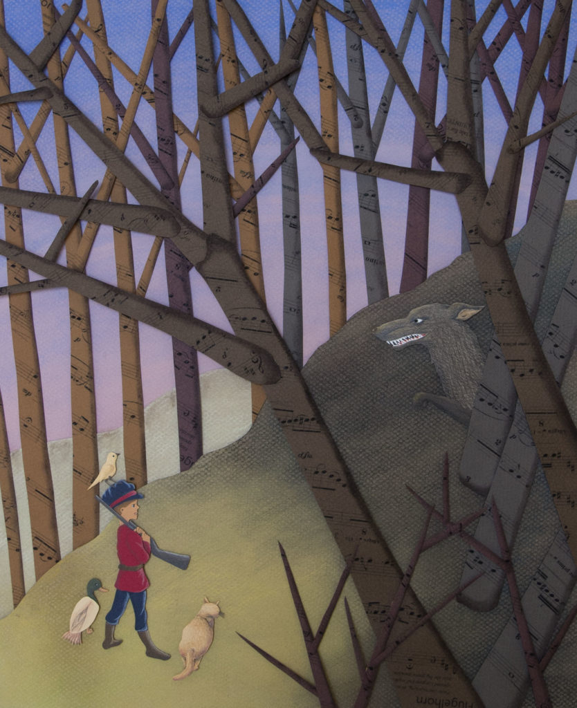 Peter and the Wolf, Cut Paper